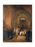 Turner's Burial in the Crypt of St. Paul's Cathedral, London, 19th Century Giclee Print by George Jones