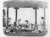 Smoking the Hookah, Plate 43 from 'Oriental Drawings', Engraved by T. Rickards, Pub. 1806 Photographic Print by Charles Emilius Gold