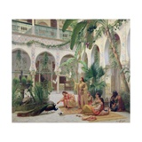 The Court of the Harem Giclee Print by Albert Girard