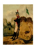 Alexander Hamilton (1757-1804) in the Uniform of the New York Artillery Giclee Print by Alonzo Chappel