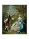 Portrait of a Gentleman and His Wife Giclee Print by Francis Hayman
