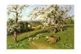 Spring, One of a Set of the Four Seasons (Detail) Giclee Print by Arthur Walker Redgate