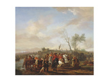 An Army on the March Giclee Print by Philips Wouwermans Or Wouwerman