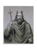 Clovis I (465-511) Merovingian Ruler of the Franks, Engraved by G. Lewy Giclee Print by Francois Louis Dejuinne