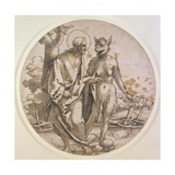 The Temptation of Christ, C.1522 Giclee Print by Hans Sebald Beham