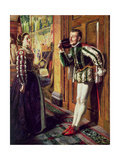 The Taming of the Shrew: Katherine and Petruchio, 1855 Giclee Print by Robert Braithwaite Martineau
