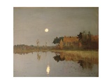 The Twilight Moon, 1899 Giclee Print by Isaak Ilyich Levitan