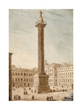 The Column of Marcus Aurelius, Rome Giclee Print by Victor Jean Nicolle