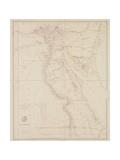 Karte von Ägypten, 1832 Giclée-Druck von John Arrowsmith