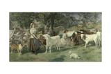 Milkmaids Giclee Print by Basil Bradley
