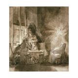 No.2139 Supper at Emmaus, C.1648-9 Giclee Print by  Rembrandt van Rjin