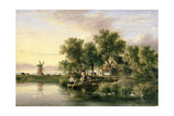 A Sunlit Norfolk River Landscape Giclee Print by James Stark