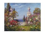 A Mediterranean Garden Gicléetryck av Thomas Edwin Mostyn
