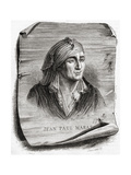 Portrait of Jean Paul Marat (1743-93) Engraved by Jean Baptiste Amedee Guillaume (1822-93) Giclee Print by Leopold Mar