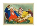 A Hitt at Backgammon Wydruk giclee autor Thomas Rowlandson