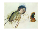 The Poor Actress's Christmas Dinner, 19th Century Giclee Print by Robert Braithwaite Martineau
