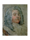 Portrait of George Frederick Handel (1685-1759) Giclée-tryk af William Hogarth