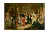 King James II (1633-1701) Receiving the News of the Landing of William of Orange in 1688, 1851 Giclee Print by Edward Matthew Ward