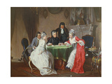 The Card Game Giclee Print by Johann Joseph Geisser