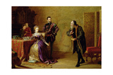 Mary, Queen of Scots (1542-87) and John Knox (C.1512-72) Giclee Print by Samuel Sidley