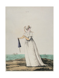 Morning Dress at the Seaside from the 'Gallery of Fashions' by N. Heideloff, 1802 Giclee Print by Nicolaus von Heideloff