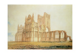 View of Whitby Abbey, C.1820 Giclee Print by John Buckler