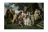 The Family of Sir William Young (1725-88) C.1766 Giclee Print by Johann Zoffany