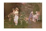 Teatime Romance, 19th Century Giclee Print by Hermann Koch