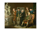Group of Connoisseurs Giclee Print by Richard Cosway
