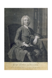 Portrait of George Graham (1673-1751) Clockmaker, Engraved by John Faber (1684-1756) Giclee Print by Thomas Hudson