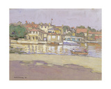 Kingston Boathouses Giclee Print by Horace Mann Livens