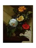 Still Life with Flowers Giclee Print by Elias Van Den Broeck