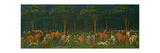 The Hunt in the Forest, C.1465-70 Gicleetryck av Paolo Uccello