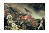 The Death of General Warren at the Battle of Bunker Hill in 1775, Painted C.1786 Giclée-tryk af John Trumbull