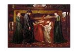 Dante's Dream Giclee Print by Dante Charles Gabriel Rossetti