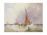 Shipping in the Solent, 19th Century Giclee Print by George the Elder Chambers