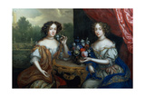 Portrait of Lady Anne Barrington and Lady Mary St. John, C.1670 Giclee Print by Henri Gascard