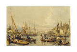 Pool Looking Towards London Bridge Giclee Print by William Parrott