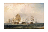 The Battle of the Nile Giclée-tryk af William Daniell