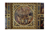 Allegory of the Districts of San Giovanni and Santa Maria Novella from the Ceiling of the Sala… Giclée-Druck von Giorgio Vasari