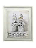 A Duet by Miss Harriett and Miss Theodosia Abrams, Harrison's Concert, Hanover Square, 1788 Giclee Print by John Nixon