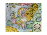 Mercator Atlas, Europe in the 1590s Giclee Print by Gerardus Mercator