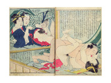 A 'Shunga' (Erotic Print), from 'Manpoku Wago-Jin: Two Pairs of Lovers, 1821 Giclee Print by Katsushika Hokusai