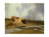 Boats on Greater Yarmouth Beach Giclee Print by John Sell Cotman