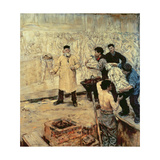 At the Foundry, 1886 Giclee Print by Jean Francois Raffaelli