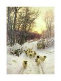 The Sun Had Closed the Winter's Day Impression giclée par Joseph Farquharson