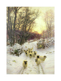 The Sun Had Closed the Winter's Day Giclée-Druck von Joseph Farquharson