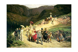 Travellers in Auvergne, 1876 Giclee Print by Konstantin Apollonovich Savitsky