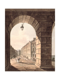 Pulteney Street Terminating in Laura Place Seen Through the Gateway of Sydney Gardens, from… Giclee Print by John Claude Nattes