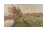 Meadows by the Avon Giclee Print by Alfred Parsons